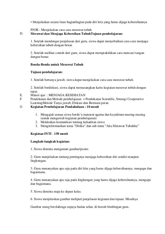 Rpp Kelas 1 Tema 1 Sub Tema 3 Pembelajaran Education Sheet Music Person
