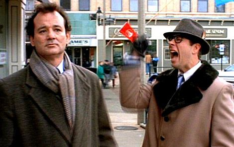 """Ned... Ryerson. """"Needlenose Ned""""? """"Ned the Head""""? C'mon, buddy. Case Western High. Ned Ryerson: I did the whistling belly-button trick at the high school talent show? Bing! Ned Ryerson: got the shingles real bad senior year, almost didn't graduate? Bing, again. Ned Ryerson: I dated your sister Mary Pat a couple times until you told me not to anymore? Well?"""