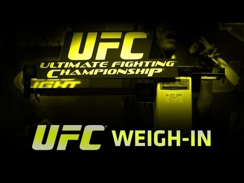 UFC 142 tmrw night (1/14/2012). Amazing how much weight they cut. They'll be 10-20 pounds heavier tmrw :)