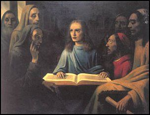 """""""Jesus Among the Doctors"""" by Han Van Meegeren, c. 1945. Police required the artist to do this painting while incarcerated. They thought he was trying to escape the death penalty for Nazis collaboration, by confessing to forgery, instead. Van Meegeren sold the above painting as a 17th-century Vermeer to Hermann Göring. Even though he was guilty of both crimes, Holland's citizens were so delighted he'd succeeded in cheating Göring, they were willing to overlook his other transgressions."""