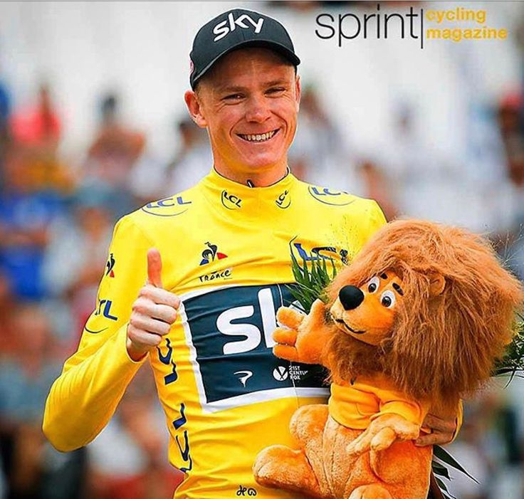 Chris Froome celebrates a hat trick of wins and 4th Tour de France win in 5 years on Sunday 23rd July 2017 #yellowjersey