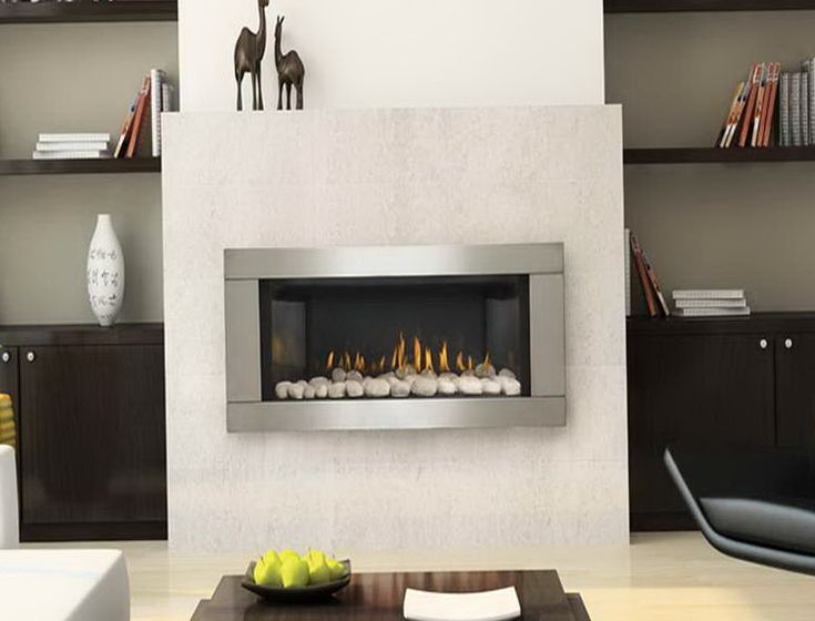 Ventless Natural Gas Fireplace Wall Mount