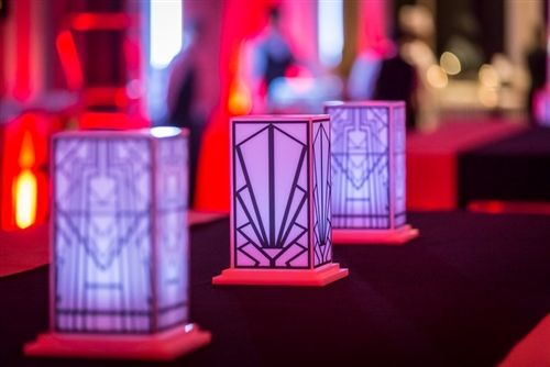 Great Gatsby Themed Event | Art Deco Centerpiece | Shag Carpet Prop Rentals | Dallas, TX