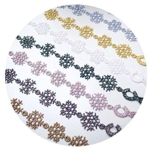 Cruciani Snowflake bracelets