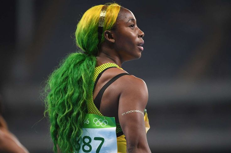 Track and field at the Rio Olympics  -     Shelly-Ann Fraser-Pryce (JAM) reacts after competing in a women's 100-meter heat.