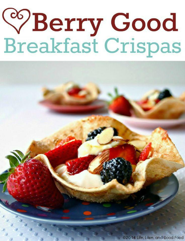 Berry Good Breakfast Crispas | Life Love and Good Food