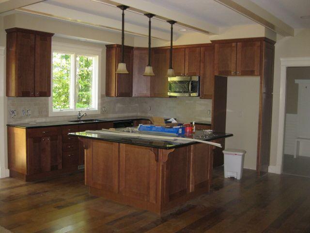 Maple Kitchen Cabinets With Dark Wood Floors