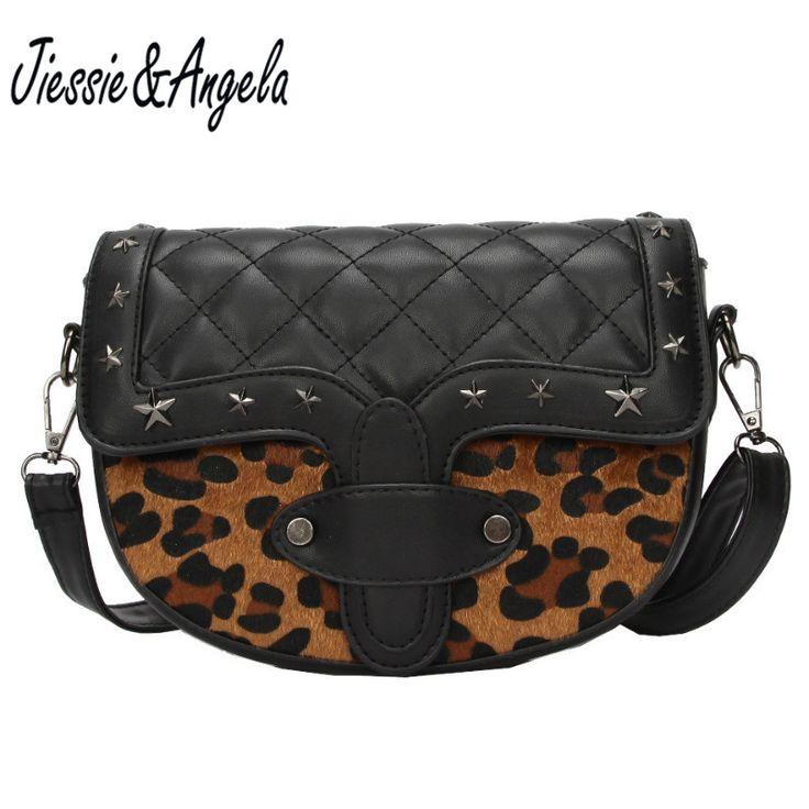 Jiessie&Angela Women Leopard Bag Leather Handbags Cross Body Shoulder Bags Fashion Messenger Bag Women Handbag Bolsas Femininas //Price: $22.07 & FREE Shipping //     #hashtag1