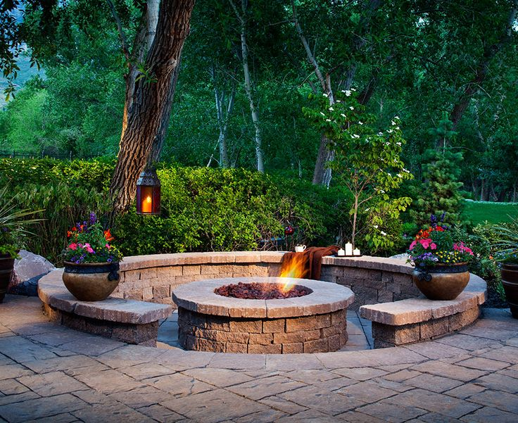 Sunken Back Yard Fire Pit Area