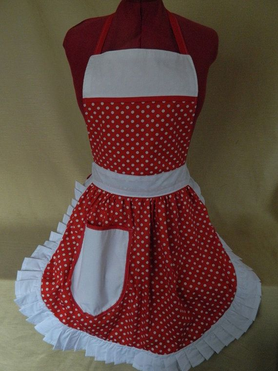 Retro Vintage 50s Style Full Apron / Pinny  by FabriqueCreations, £20.00