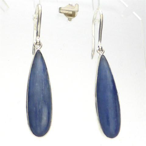 Earring Kyanite Teardrop | 925 Sterling Silver | Authentic Stones | Crystal Heart Melbourne Australia since 1986