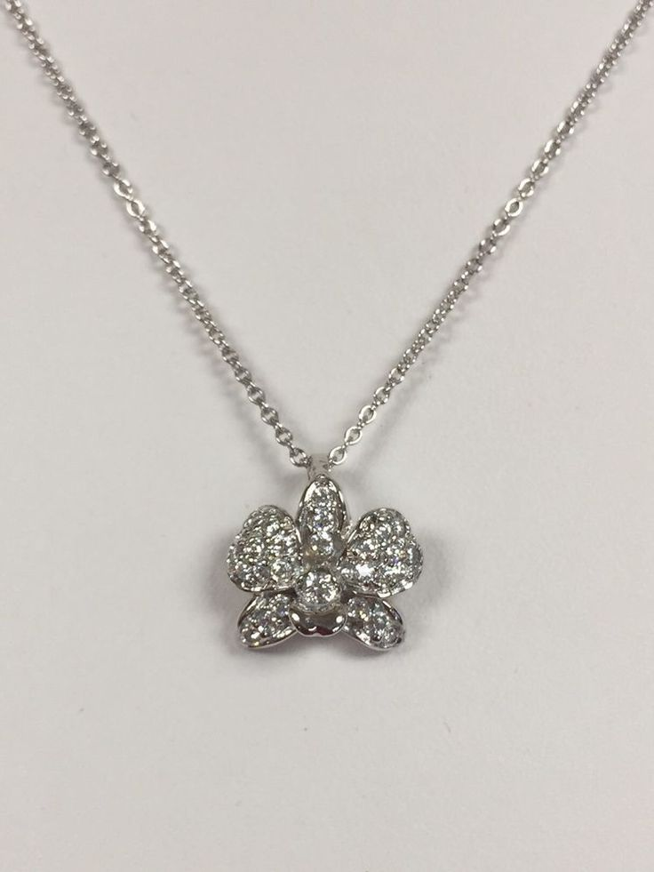 ".925 ""DIAMONIQUE"" Orchid Necklace By QVC   
