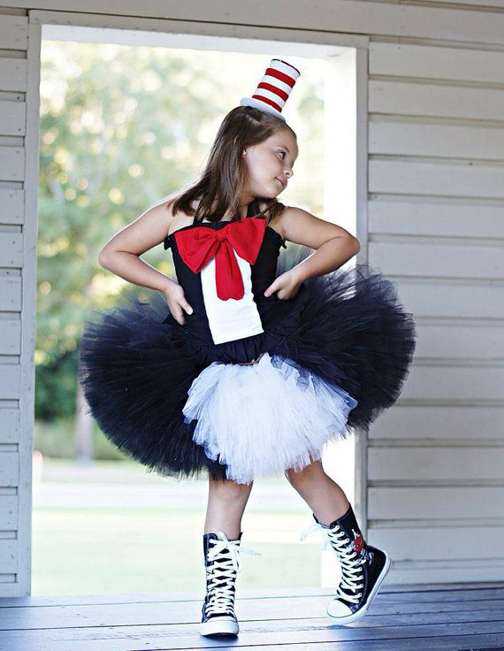 Custom boutique Cat in the Hat inspires tutu dress by RainbowsLNG, $129.00