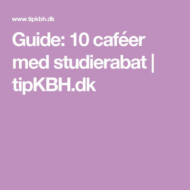 Guide: 10 caféer med studierabat   tipKBH.dk