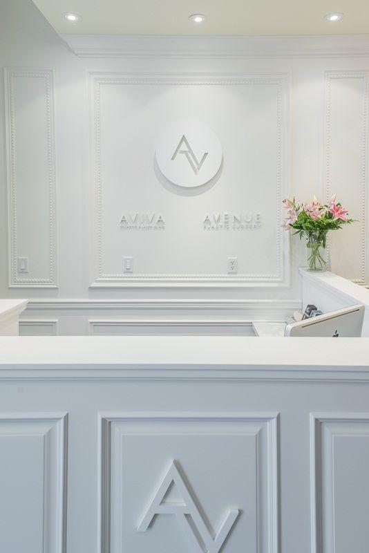 Avenue Plastic Surgery's reception desk - Dr. Alexander Golger