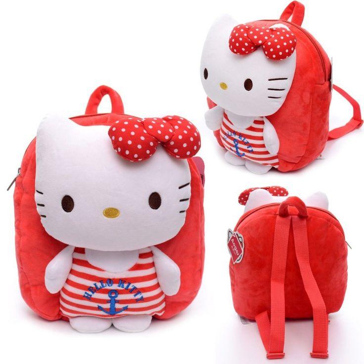 Cheap Original marino rojo dibujos animados Hello Kitty Plush niños preescolares Backpack 12 * 9 '' nueva #LN, Compro Calidad Mochilas directamente de los surtidores de China:    Original marino rojo Hello Kitty felpa de dibujos animados los niños de preescolar mochila 12*9 ''nuevo # LN