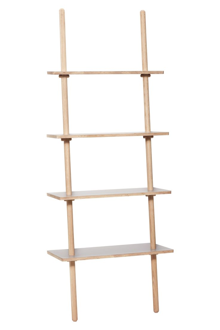 Oak display ladder with grey laminate. The leaning function creates a lightness to the furniture design. Item number: 880411 - Designed by Hübsch