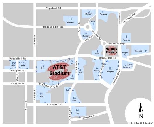 Dallas Cowboys at AT&T Stadium Parking Lots (Formerly Dallas Cowboys Stadium Parking Lots), Arlington on 10/27/2014 3:30:00 AM