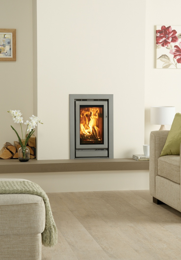 Stovax Riva 45 woodburning and multi-fuel cassette fire, hearth mounted with a…