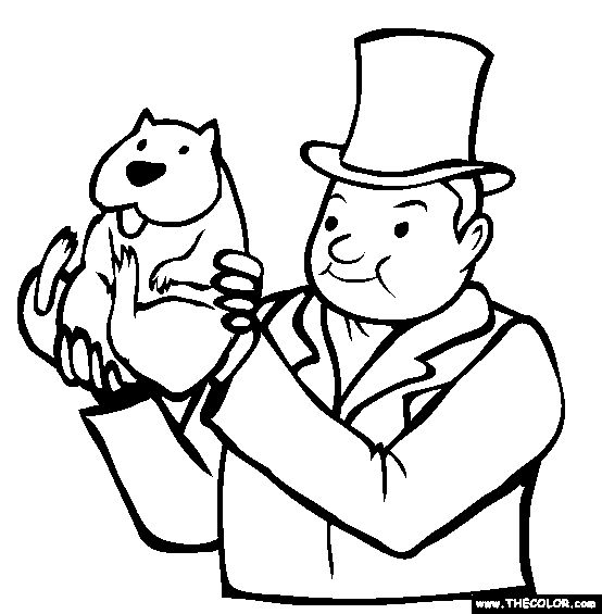 This is an image of Mesmerizing Ground Hog Coloring Sheet