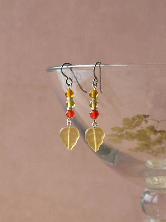 woodland earrings by HandmadeEarringsUK on etsy