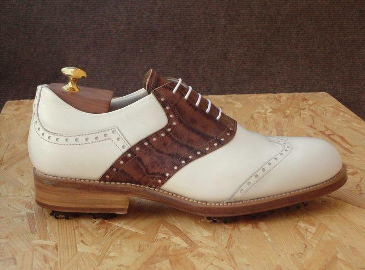 PINE VALLEY  #scarpe da #golf  con pregiato pellame con tacchi in cuoi