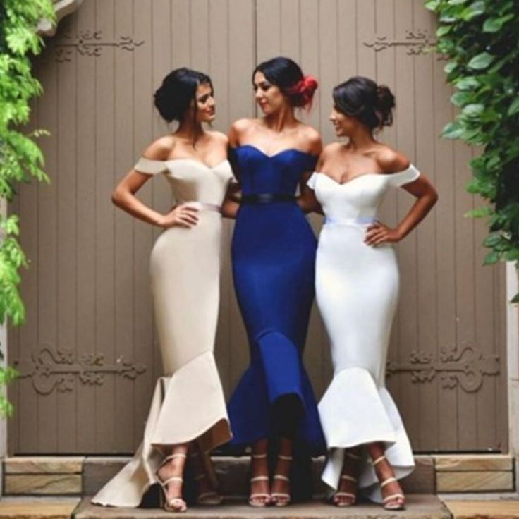Unique Sexy Mermaid Off Shoulder Sweet Heart Charming Long Wedding Party Dress, WG58 The long bridesmaid dresses are fully lined, 4 bones in the bodice, chest pad in the bust, lace up back or zipper b