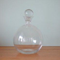 Vintage  round glass decanter