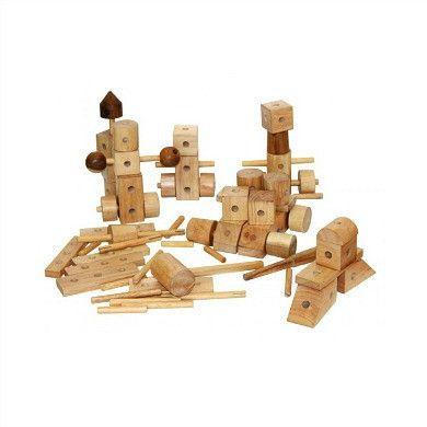 $55 How we Montessori Shop - Natural Construction Set (84 pieces)