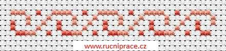 Border, free cross stitch patterns and charts - www.free-cross-stitch.rucniprace.cz