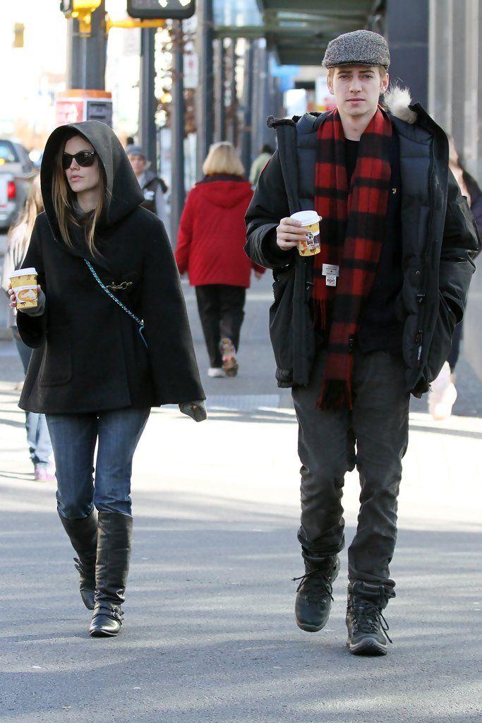 That cape. [Rachel Bilson - Hayden Christensen and Rachel Bilson in Vancouver]