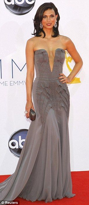 Homeland actress Morena Baccarin in Basil Soda put their own spin on floor-length gowns
