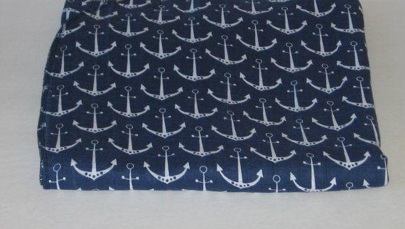 Baby Swaddle Blanket, Large Swaddle Blanket, 46x59, Gauze Blanket, Shannon Fabrics, Anchor Blanket, Nautical Blanket, Baby Boy, Baby Girl #swaddleblanket