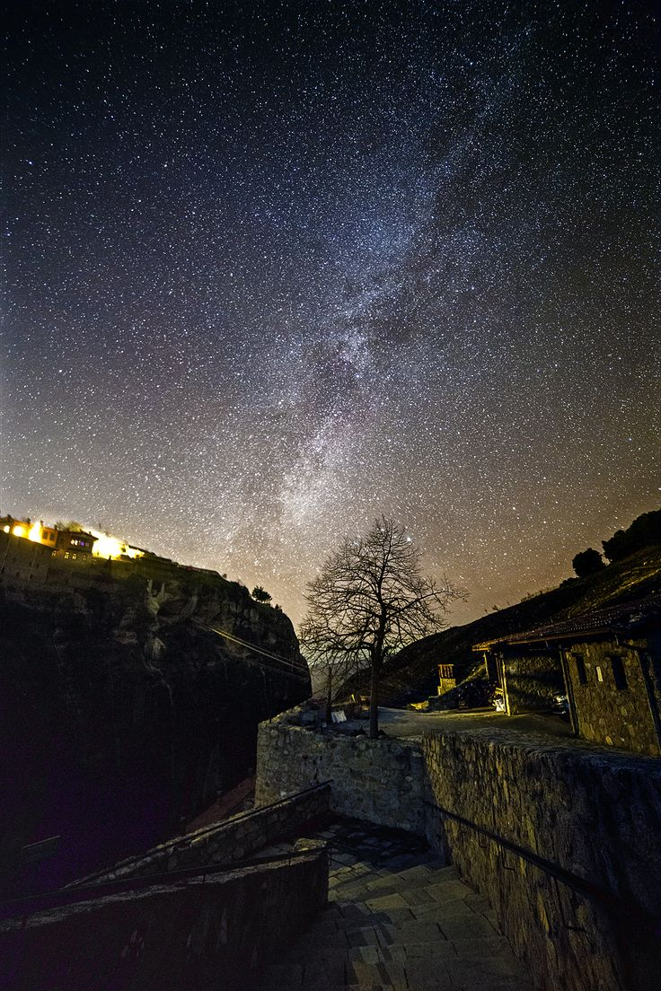 Milky Way is setting at Meteora