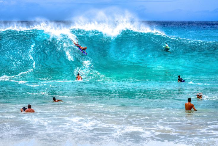 Sandy Beach, Oahu, Hawaii - the best photo I've ever seen taken of this place. The blues of the water here are just spellbinding.