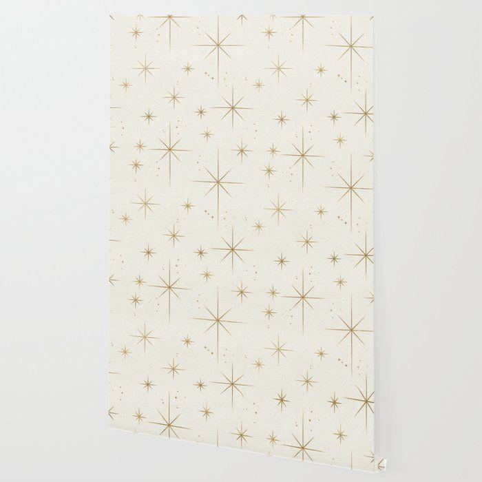 Seamless Pattern Glamorous White Gold Art Deco Stars Constellations Minimalist Geometric Pa Geometric Pattern Wallpaper Gold Art Deco Pattern Pattern Wallpaper White and gold wallpaper repeating