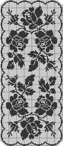 crochet - caminhos de mesa