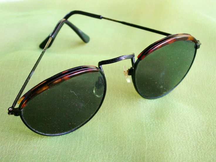 Vintage 80's Sunglasses, Big Round Geek Glasses, Faux Tortoise Eyewear, Vintage Eyewear by dazzledbyvintage on Etsy
