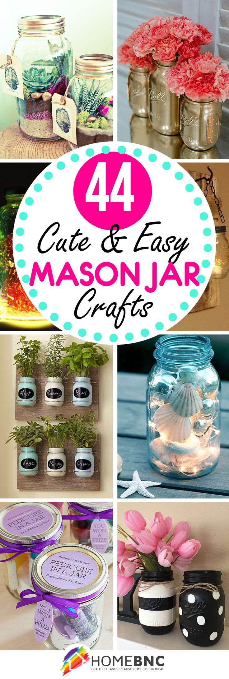Werden Sie kreativ mit diesen 44 DIY Mason Jar Crafts