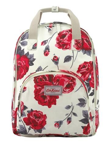 Cath Kidston Ardingly Rose multi pocket backpack