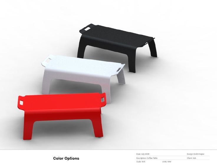 Tray / coffee table by Endrit Hajno