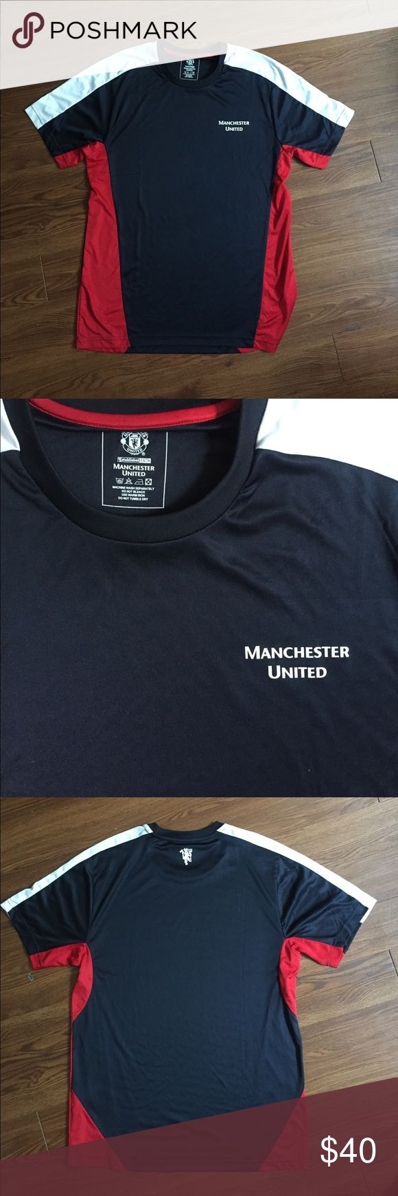 Official Manchester United jersey Navy blue/red/white. Like new condition. Shirts Tees - Short Sleeve