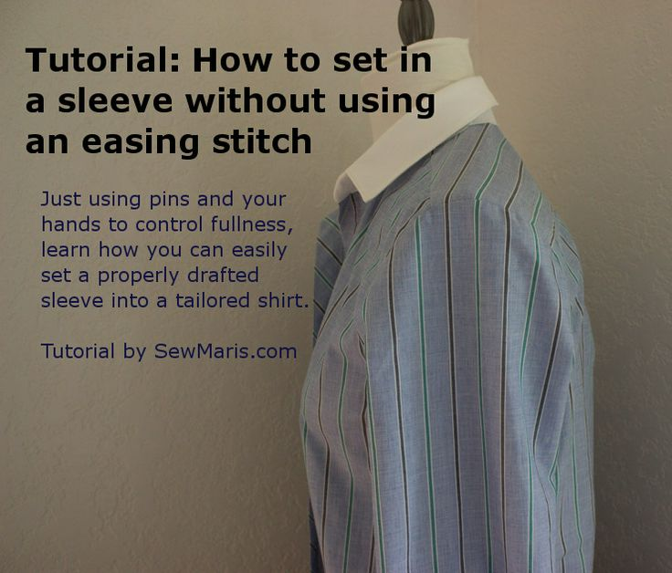 Learn a nifty method for setting in sleeves without an easing stitch!