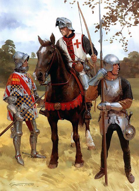 """The loss of Normandy 1449-1450: • John Talbot, Earl of Shrewsbury • Norman archer • Lightly armoured billmen"", Graham Turner"