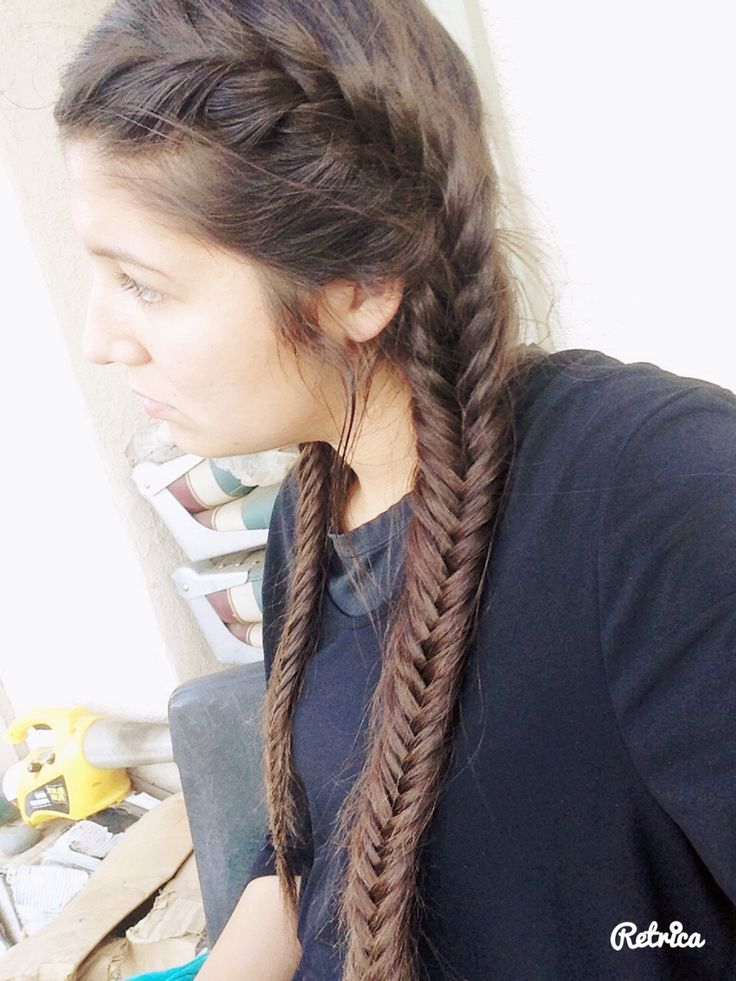 Braid Fishtail pigtails advise dress in winter in 2019