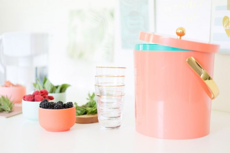 Fruit and Herb Infused Water Bar  Ingredients      fresh fruits like berries, melons, or citrus, cut up in individual bowls     sprigs of fresh herbs like mint, basil, or rosemary     ice     Brita pitcher with freshly filtered water