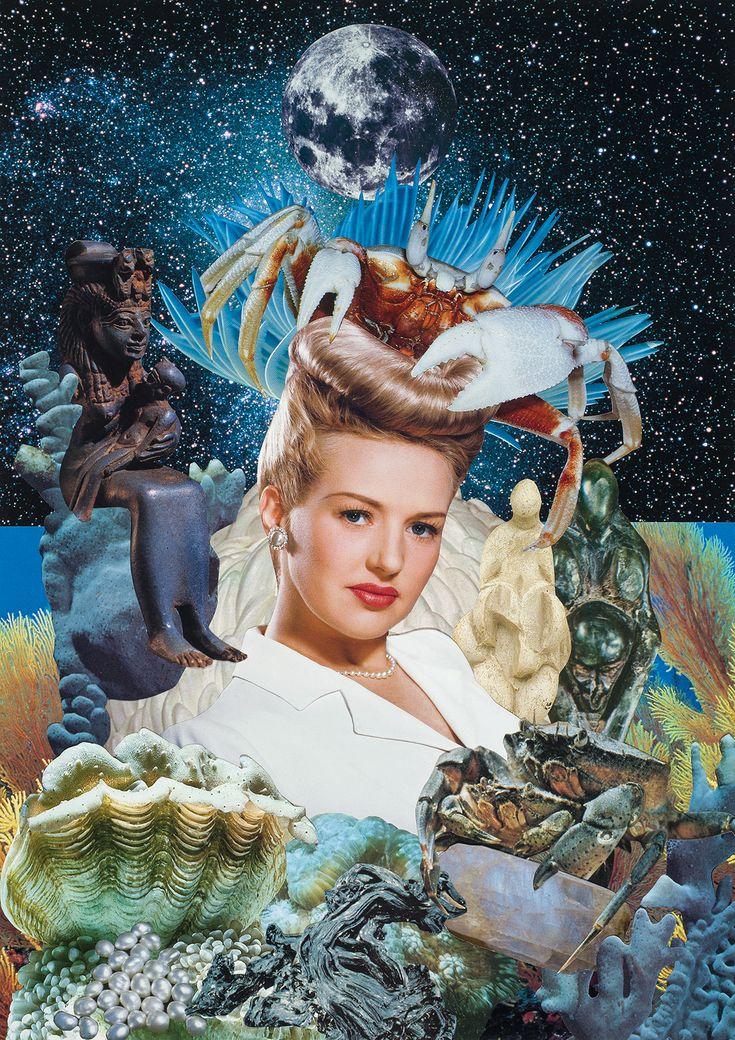 Zodiac Archetype Series • Handcrafted collage • 297 x 420mm • © Teresa Goodin 2019 New Zodiac, Zodiac Art, Aries Zodiac, Zodiac Signs, Digital Collage, Collage Art, Art Hoe, Moon Goddess, Paintings