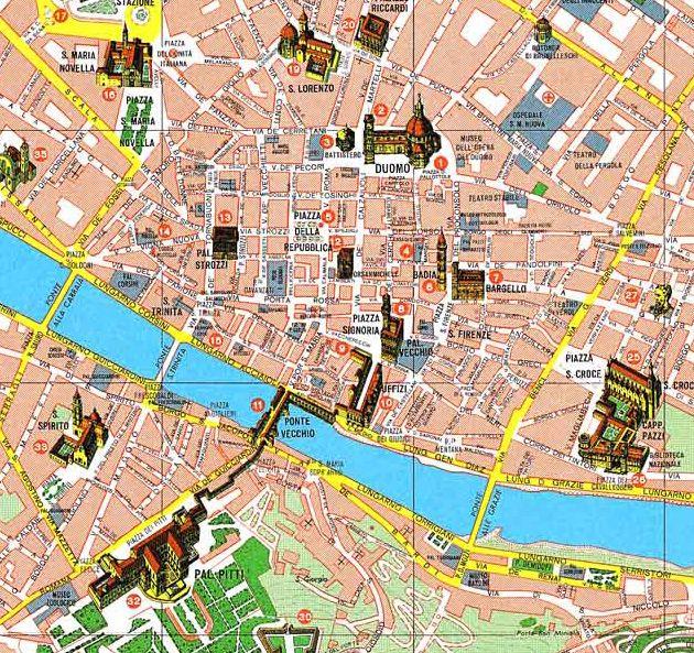 Firenze Italie Carte.Carte Florence Italie Imvt Carte Florence En 2019