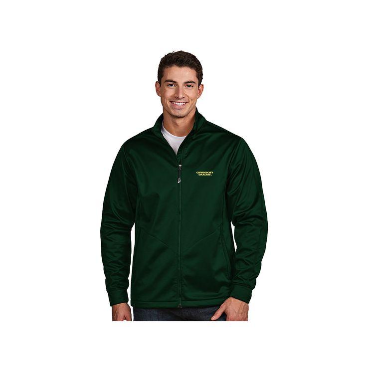 Men's Antigua Oregon Ducks Waterproof Golf Jacket, Size: Medium, Dark Green