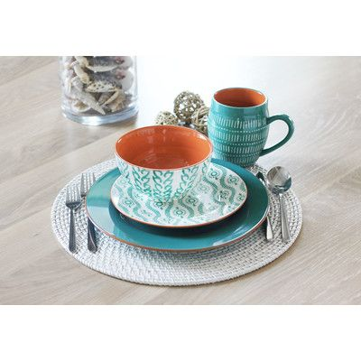 Baum Tangiers 16 Piece Dinnerware Set & Reviews | Wayfair.ca